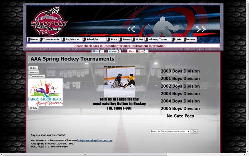 AAA Spring Shootout Hockey Torunament Website